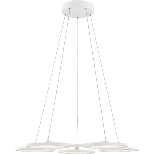 Nitro White Lustre Integrated LED One-Light Chandelier