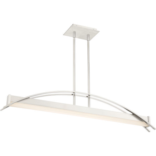 Platinum Collection Sabre Brushed Nickel LED Linear Pendant