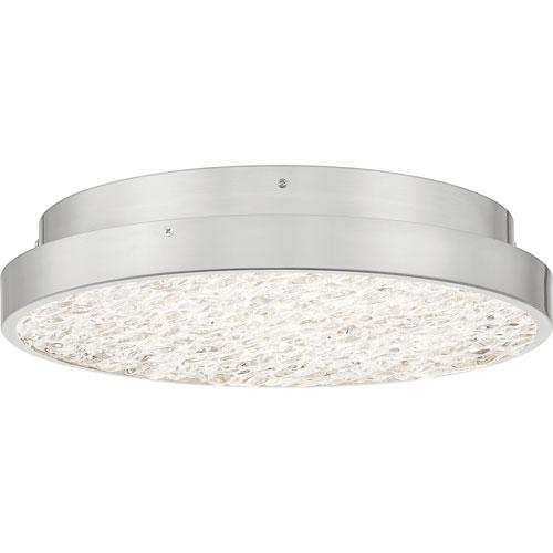 Sunrise Brushed Nickel 16-Inch LED Semi-Flush Mount