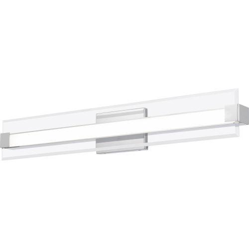 Platinum Collection Salon Polished Chrome 32-Inch LED Bath Vanity