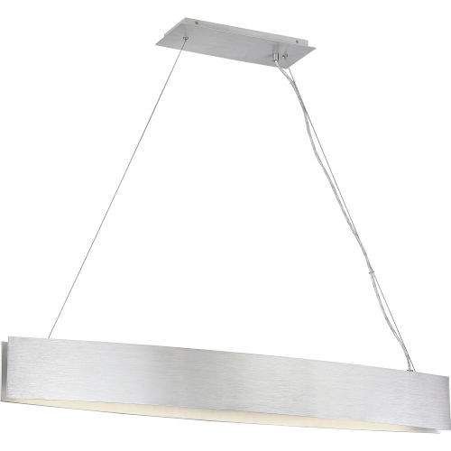 Platinum Collection Silver Edge Brushed Aluminum LED Linear Pendant