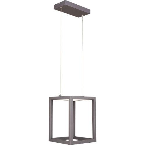 Platinum Collection Zone Charcoal LED Mini Pendant