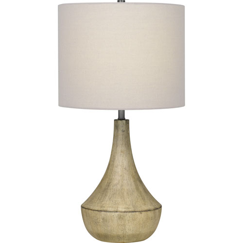 Rockville Whitewash One-Light Table Lamp