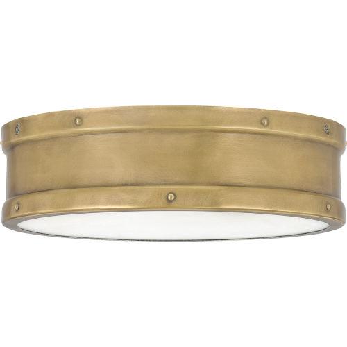 Ahoy Weathered Brass Integrated LED One-Light Flush Mount