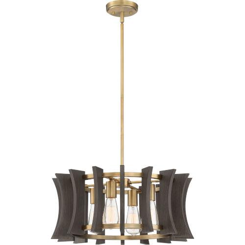 Cordelia Aged Brass Four-Light Pendant