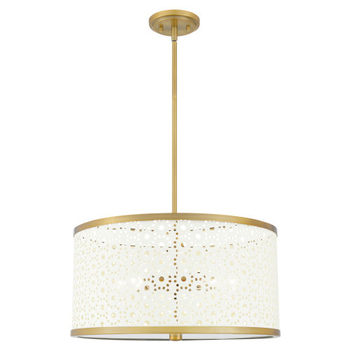 Bristol Aged Brass Five-Light Pendant