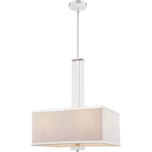 Callum Polished Nickel Four-Light Pendant