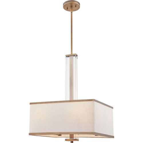 Callum Weathered Brass Four-Light Pendant