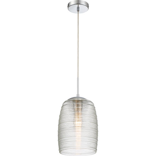 Rebound Polished Chrome 9-Inch One-Light Mini Pendant