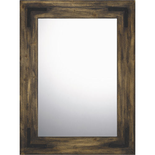 Stockdale Brown 30-Inch Rectangle Mirror