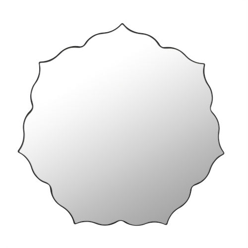 Tibby Clear 35-Inch Floral Silhouette Mirror