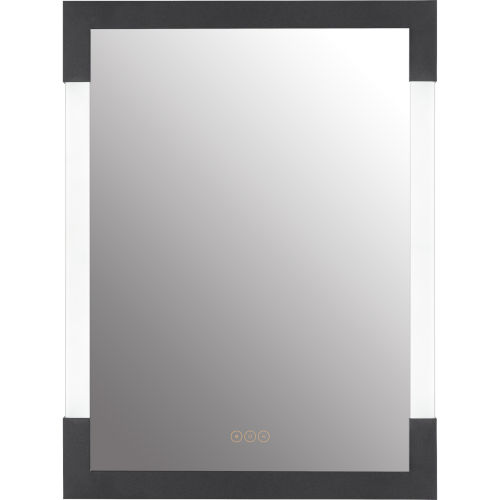 Fowler Earth Black 23-Inch ADA Integrated LED Lighted Mirror