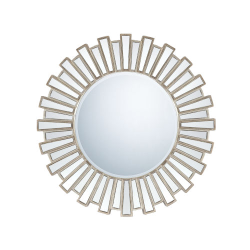 Antique Silver Starburst Mirror