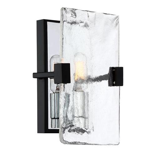 Herriman Earth Black One-Light Wall Sconce