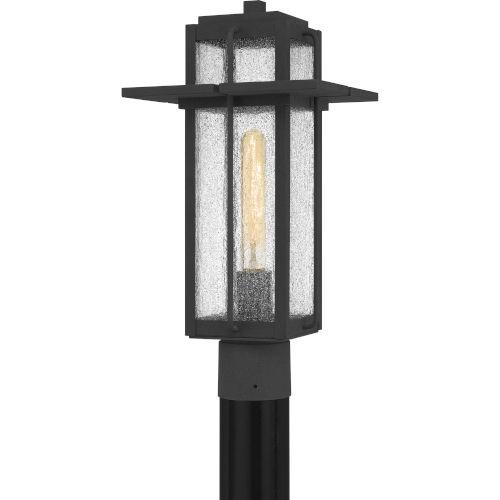 Randall Mottled Black One-Light Outdoor Post Mount