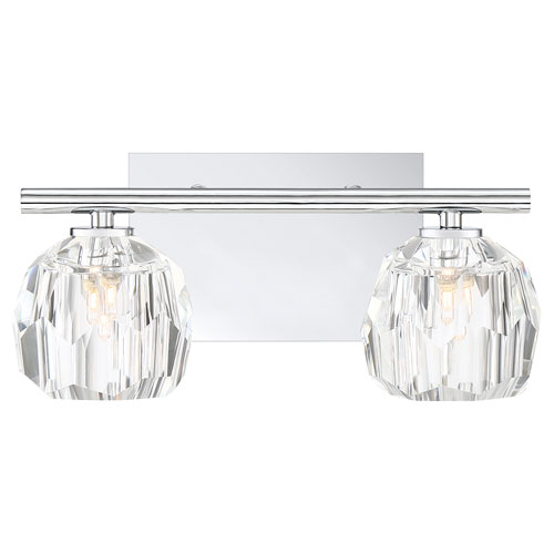 Regalia Polished Chrome Two-Light Bath Vanity