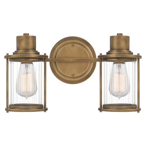 Riggs Weathered Brass Two-Light Bath Vanity
