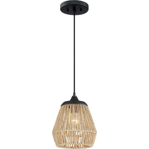 Romain Earth Black One-Light Mini Pendant