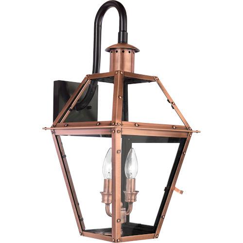Rue De Royal Aged Copper Two-Light Outdoor Wall Light