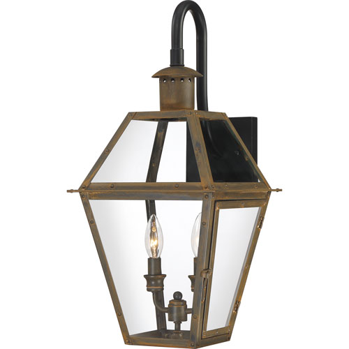 Rue De Royal Industrial Bronze 11-Inch Two-Light Outdoor Wall Mount