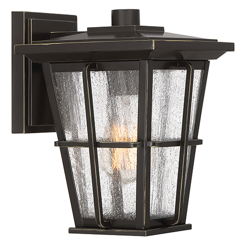 Quoizel Rockport Palladian Bronze 10-Inch One-Light Outdoor Wall Sconce