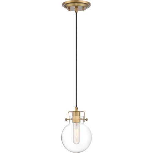 Sidwell Weathered Brass One-Light Mini Pendant