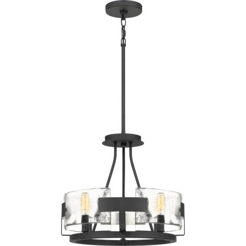 Stratum Royal Ebony Four-Light Semi-Flush Mount