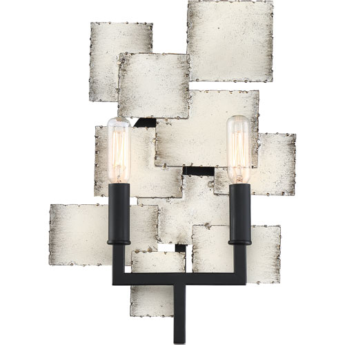 Torrance Old Silver Two-Light Wall Sconce