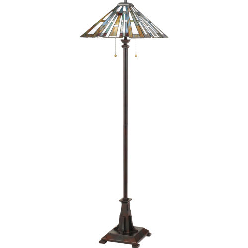 Maybeck Valiant Bronze Two-Light Floor Lamp