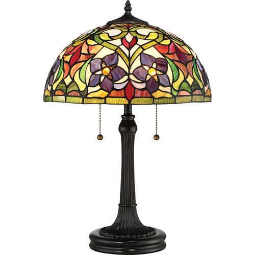 Quoizel Violets Vintage Bronze Two-Light Table Lamp