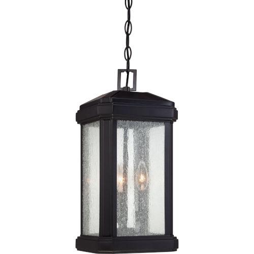 Trumbull Mystic Black 19-Inch Height Three-Light Outdoor Hanging