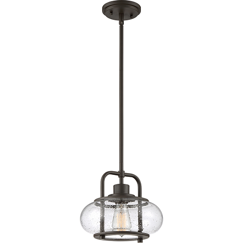 Trilogy Old Bronze One-Light Mini Pendant