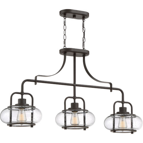 Trilogy Old Bronze Three-Light Linear Pendant