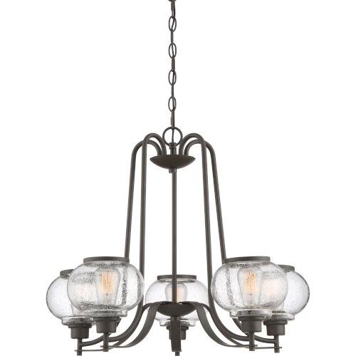 Trilogy Old Bronze Five-Light Chandelier