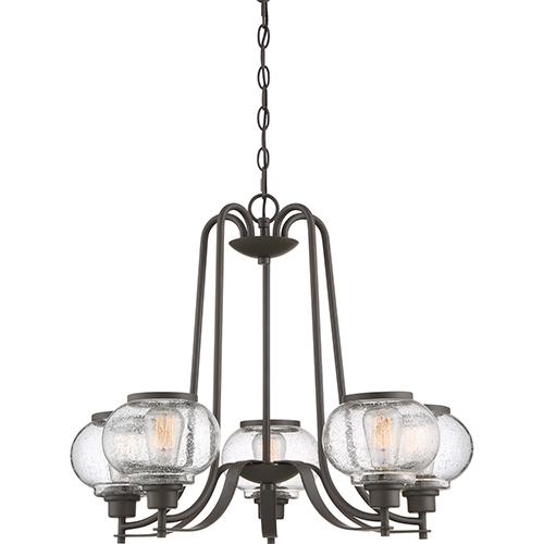 Quoizel Trilogy Old Bronze Five-Light Chandelier