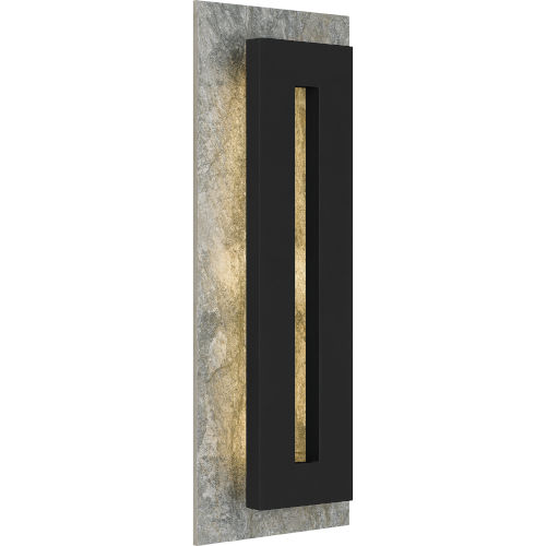 Tate Earth Black 22-Inch LED Outdoor Wall Mount