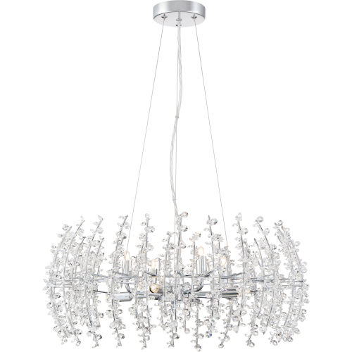 Valla Polished Chrome Eight-Light Pendant