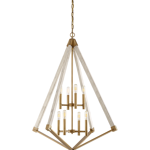 View Point Weathered Brass Eight-Light Pendant