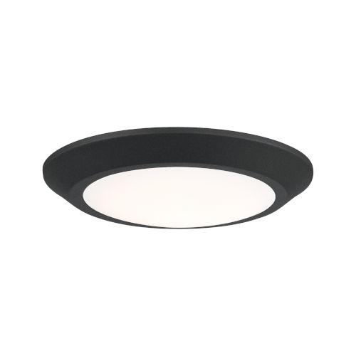Verge Earth Black 8-Inch LED Flush Mount with White Acrylic Shade