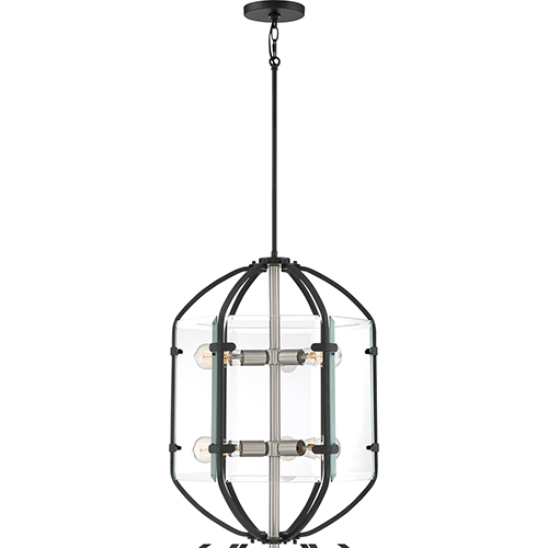 Quoizel Vessel Earth Black Six-Light Pendant