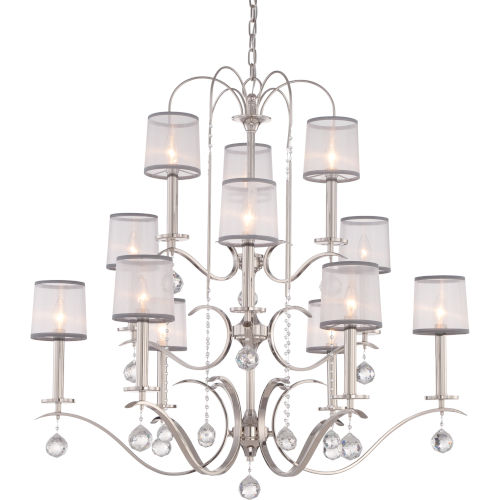 Whitney Imperial Silver Twelve-Light Chandelier