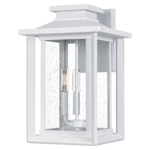 Wakefield White Lustre Three-Light Outdoor Wall Mount