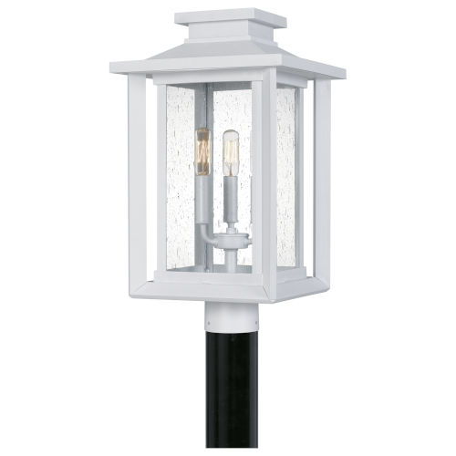 Wakefield White Lustre Three-Light Outdoor Post