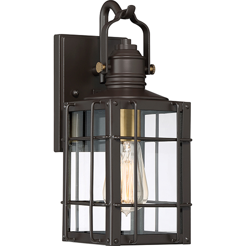 Quoizel West Oak Western Bronze 13 Inch One Light Outdoor Wall Sconce