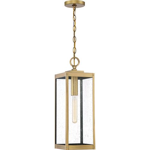 Quoizel Westover Antique Brass One-Light Outdoor Pendant