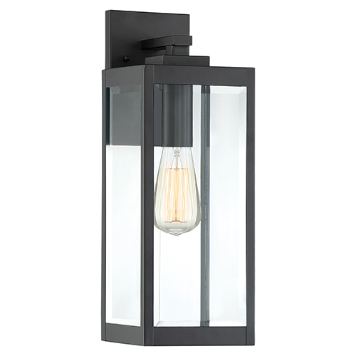 westover earth black 17 inch one light outdoor wall sconce - Outdoor Sconce Lighting