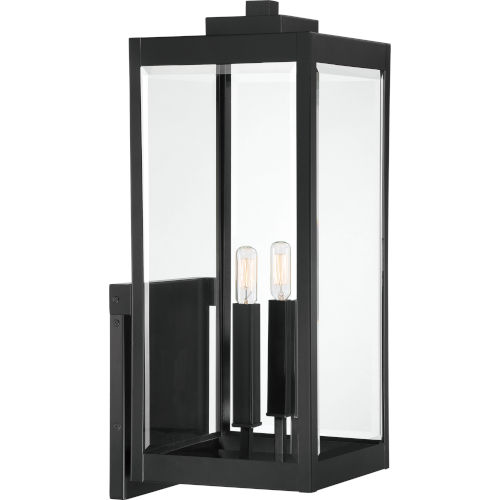 Westover Earth Black Two-Light Outdoor Wall Mount