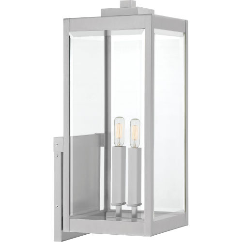 Westover Stainless Steel Two-Light Outdoor Wall Mount