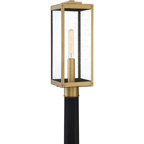 Quoizel Westover Antique Brass One-Light Outdoor Post Mount