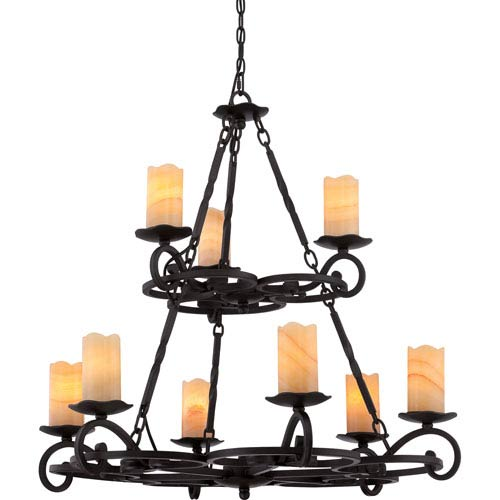 Quoizel Armelle Imperial Bronze Nine-Light Chandelier